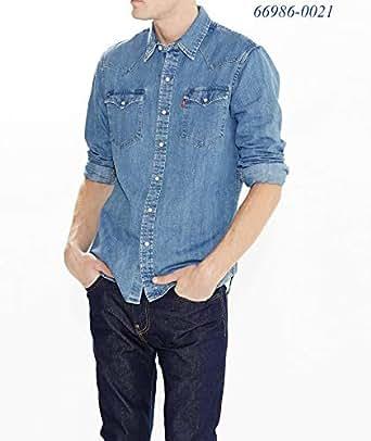 Levi's Erkek Classic Western Günlük Gömlek, Mavi, S Beden