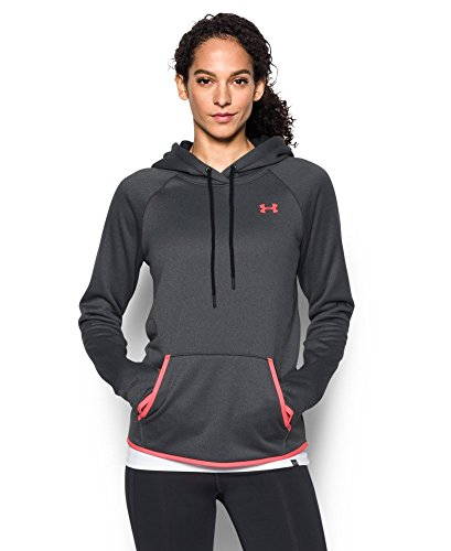 Under Armour Women's Storm Armour Fleece Icon Hoodie, Carbon Heather (090), Large