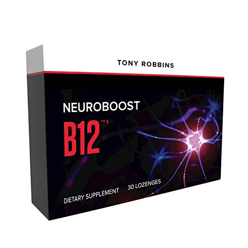 Tony Robbins NeuroBoost B12 – Unlimited Power – 3000mcg Active Methylcobalamin with Folate, Delicious B Vitamin & 5-MTHF Melts for Energy + Cognitive Support (30 Dissolving Lozenges)