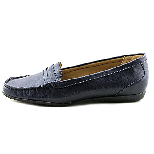 (Trotters Womens Francie Closed Toe Loafers, Navy, Size 10.5)