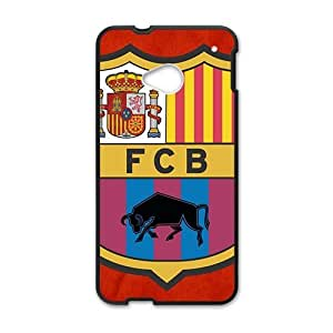 Personal Customization barcelona spain soccer Hot sale Phone Case for HTC ONE M7 Black