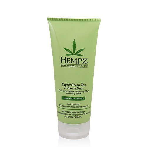Hempz Exotic Green Tea & Asian Pear Exfoliating Herbal Cleansing Mud and Body Mask 6.76 oz 2 x Muzott Smart Profile Dynamic Brush Head for Clarisonic SMART Profile