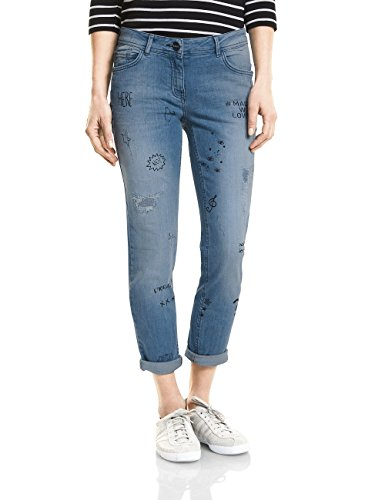 Blue Donna Cecil 10274 Wash Jeans Straight Mide Blu authentic Used qxxU8pEw