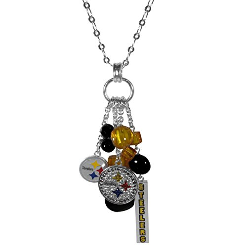(NFL Pittsburgh Steelers Cluster Necklace, 30