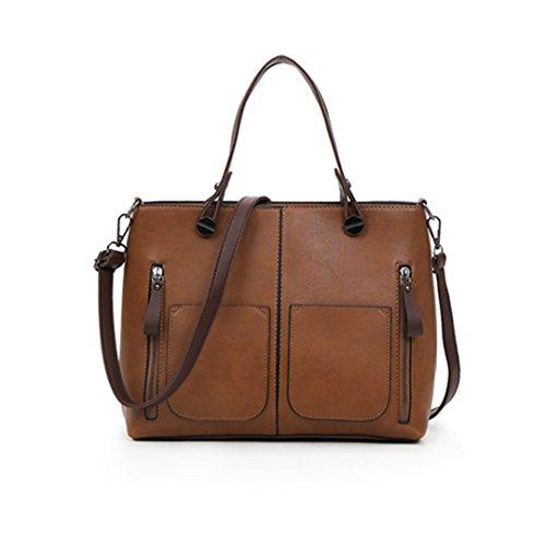 Diseñador de bolsos de mano bolsas para mujer Bolsos Bolso Messenger Casual bolsas de hombro rojo de gran capacidad Brown
