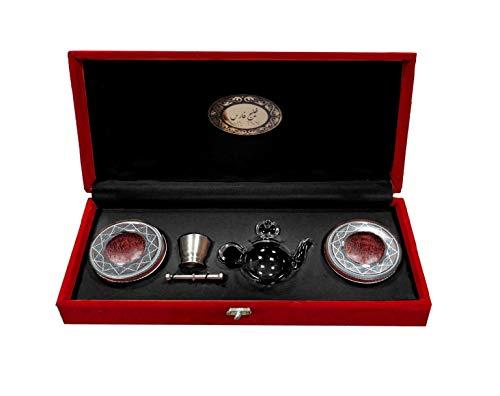 Safran Fäden 2 x 2 Gr im Geschenkbox in Dose mit glaskanne und Mörser Super Sargol PREMIUM Safran Top Qualität Safranfäden neue Ernte Top Preis (2 x 2 Gr im Geschenkbox)