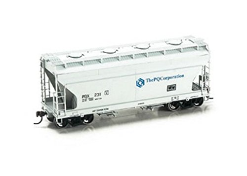 Acf Covered Hopper - Athearn HO Scale ACF 2970 Covered Hopper PQ Corpation (Gray/Blue) #231