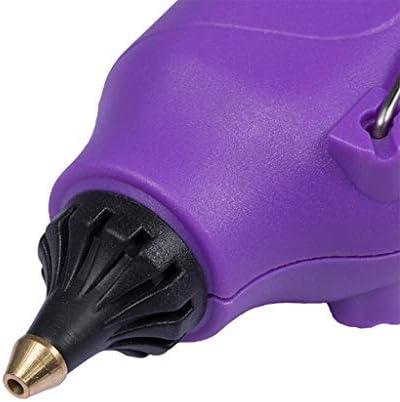 Minmin ホットメルト接着ガン、DIY小さなプロジェクト、美術品や工芸品、ホームクイック修理、芸術創造のための10本のグルースティックでプロフェッショナルグレード60W電源内部高温ヘビーデューティメルト接着ガンキット、 ミニ (Color : A)