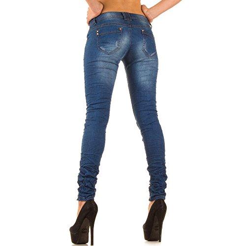 Con Blanco Stretti Donna Denim Store Jeans Pantaloni Elasticizzato Colorati Inserti rwRA0rqx