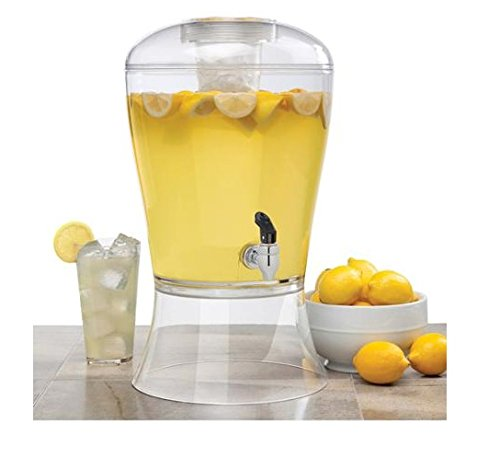 Amazon.com | Creative Bath CreativeWare BEV10CLR Beverage Dispenser with Base Ice Cylinder Sleeve, Clear: Iced Beverage Dispensers