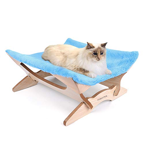 PERSUPER Elevated Cat Beds Cat Hammock cat Blanket Small Dog Beds Wooden Detachable Frame Square Hanging Cat Sofa cat…