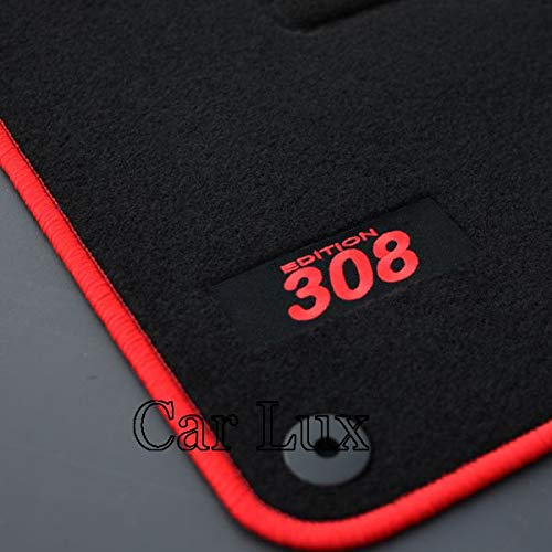 Car Lux AR04145 - Alfombras Alfombrillas Medida Edition Velour para el 308 Desde 2013