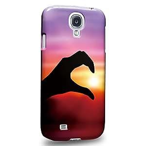 Case88 Premium Designs Art Couple Phone Case Series Sunset Left Hand Carcasa/Funda dura para el Samsung Galaxy S4