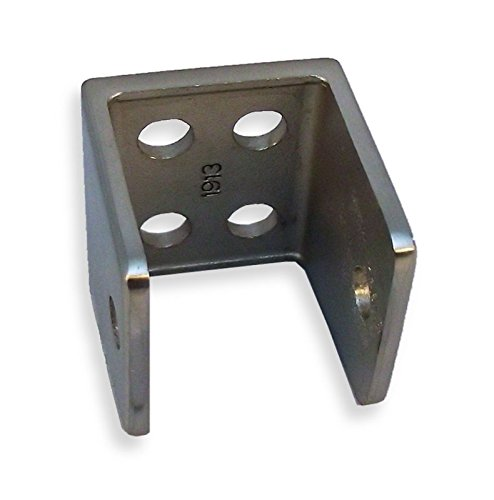 Cast Stainless Steel U Bracket for 1'' Restroom Partition Panels by Young's Catalog
