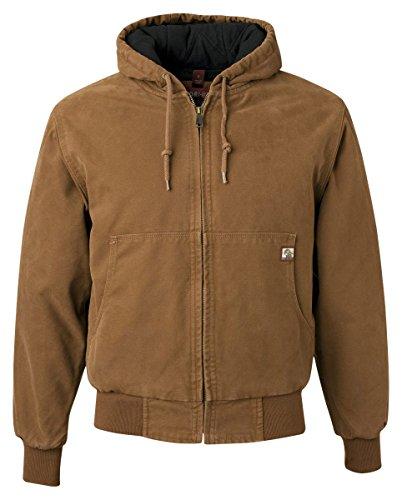 Cotton Canvas Jacket (Dri-Duck Men's 5020 Cheyenne Hooded Work Jacket, Saddle, Large)
