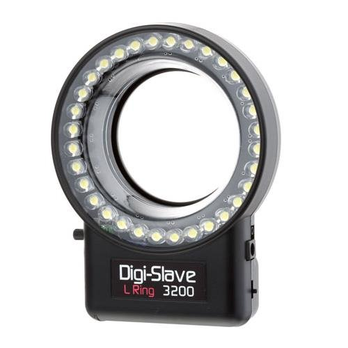 Digi-Slave L-Ring 3200, Powerful, Versatile LED Ring Light with Focusing Light, Removable Diffuser, Continuous or Flash for Digital Macro Photography by Digi-Slave