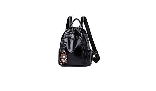 Hengtongtongxun The Girls Versatile Backpack is Perfect for Everyday Travel Outdoor Work School Travel Fashion and Leisure Black//Brown 2019 New Generous and Stylish