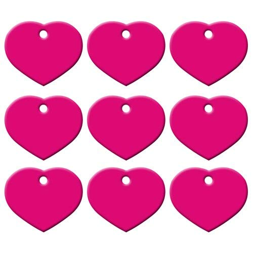 Flyingpets ID Tags - Wholesale 100Pcs Heart Love Personalized Dog Cat Pet ID Tags Customized Engraving Name Phone No. for Dog Pet ID Tag Accessories 1 PCs