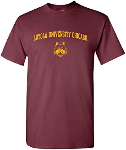 UGP Campus Apparel NCAA Arch Logo, Team Color T Shirt, College, University