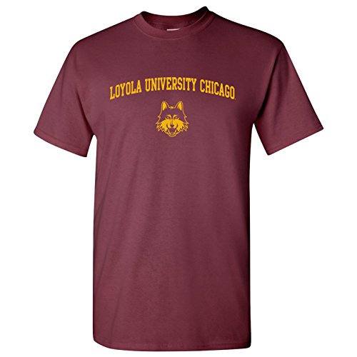 UGP Campus Apparel AS03 - Loyola University Chicago Ramblers Arch Logo T-Shirt - 2X-Large - Maroon