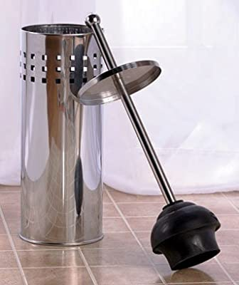 Toilet Plunger-Stainless Steel by GetSet2Save