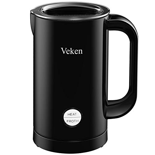 Veken Electric Milk Frother with Hot Cold Function Milk Warmer Heater for Cappuccinos Lattes Hot Chocolate Matcha Upgraded Version
