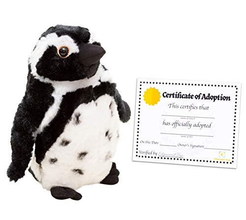 "Edgewood Toys Penguin Stuffed Animal - 10"" Stuffed Penguin Plush with Special Design for Ultra Softness - Realistic Looking Penguin Gifts & Toy - Bonus Adoption Certificate Included! ()"