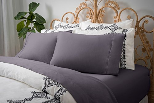 - Magnolia Organics Dream Collection Sheet Set - King, Elderberry Grey