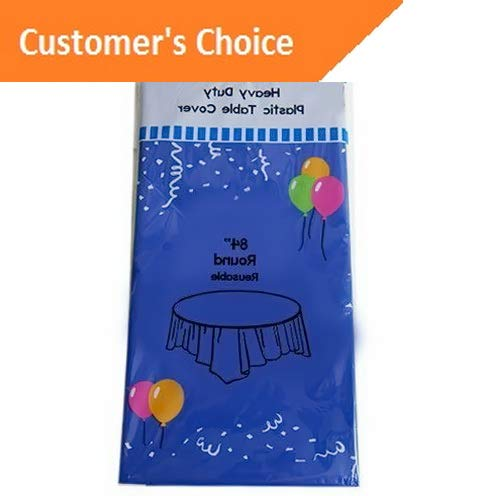 Kaputar Round 84 Plastic Table Cover Birthday Wedding Party Supplies Tablecloth | Model TBLCLTH - 340 |