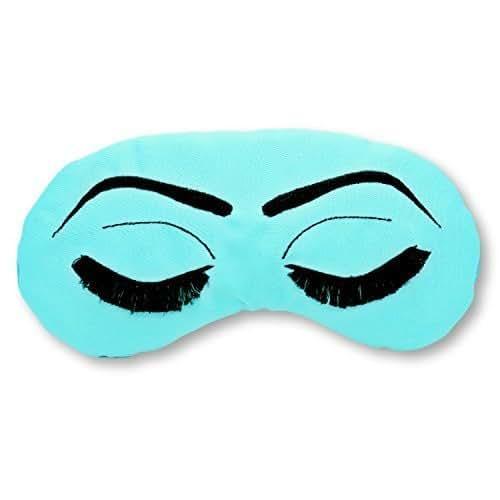 Breakfast at Tiffany's inspired Holly Golightly Sleep Eye Mask- Robin's Egg Blue and Black