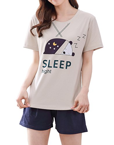 Vopmocld Big Girls' Cute Sleepy Bear Pajama Sets Novel Stars and Moon Sleepwear ()
