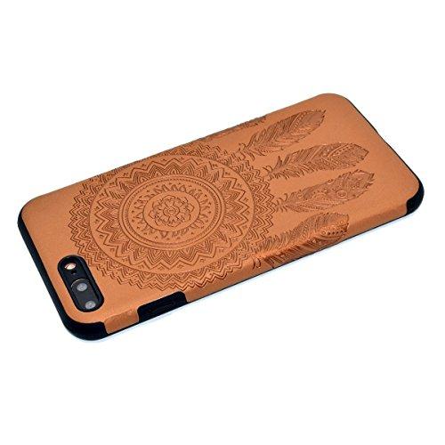"""inShang iPhone 7 Plus 5.5"""" Funda y Carcasa para iPhone 7 Plus 5.5 inch case iPhone7 Plus 5.5 inch móvil,Ultra delgado y ligero Material de TPU,carcasa posterior (Back case) con , Brown chimes"""