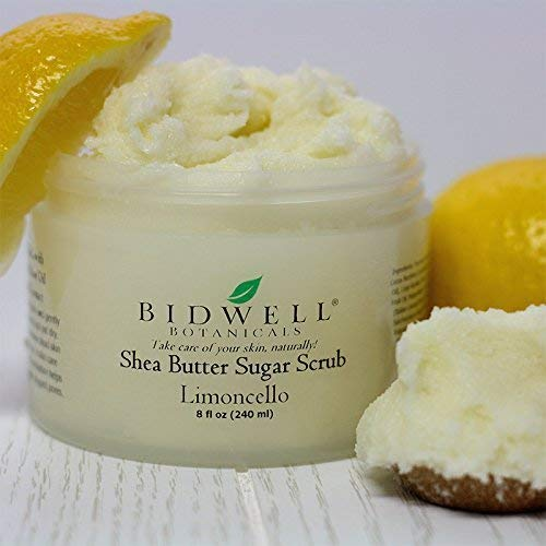 Limoncello Shea Butter Sugar Scrub with Lemon Essential Oil and Vanilla -