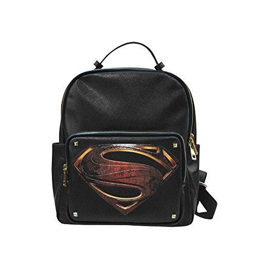 [Navarro Superman Logo Unisex Leisure Backpack School Leisure Shoulder Bag] (Iron Fist Superhero Costumes)