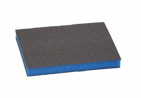 Bosch 2609256349 Abrasifs sur non tissé et sur mousse Eponge abrasive pour Arrondis 68 x 120 x 13 grain moyen