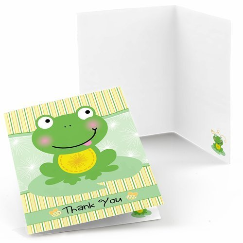 Big Dot of Happiness Froggy Frog - Baby Shower or Birthday Party Thank You Cards (8 Count) (Froggy Frog)