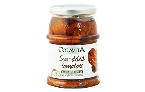 Dried Olive Oil Tomatoes (Colavita Sun-dried Tomatoes in Extra Virgin Olive Oil – 9.87 oz.)