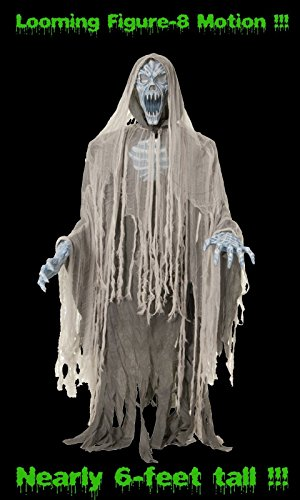 HORROR-HALL Life Size Animated Evil Entity Ghost Zombie Halloween Prop Figure-8 Movement -