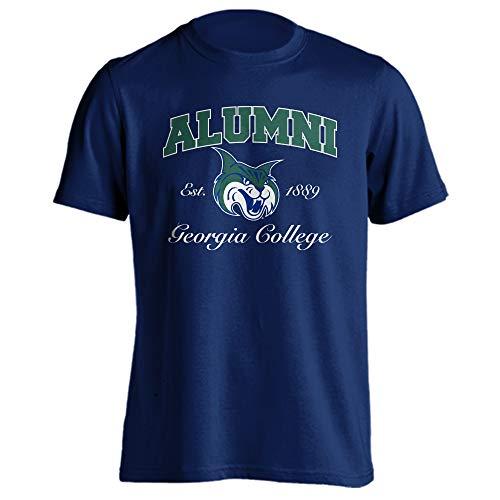 (Sport Your Gear Georgia College Bobcats GCSU Alumni Classic Arch T-Shirt (Navy, 3XL))
