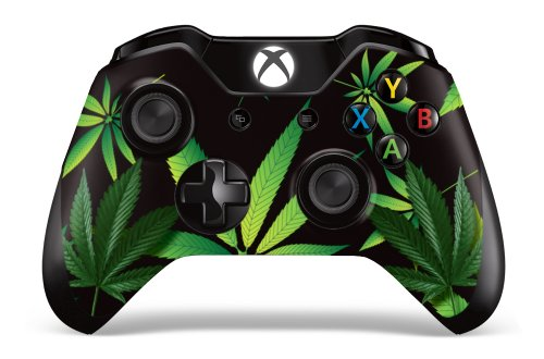 Designer Skin Sticker for the Xbox One Wireless Controller Decal- - Weeds Black