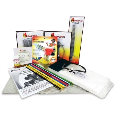 Fireworks Beginner's Bead Kit Includes Tools, Supplies, Glass Rods and Instructional DVD -