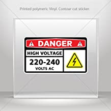 Decals Decal Danger High Voltage 220-240 Volts Ac Tablet Laptop Waterp (6 X 3.49 Inches)
