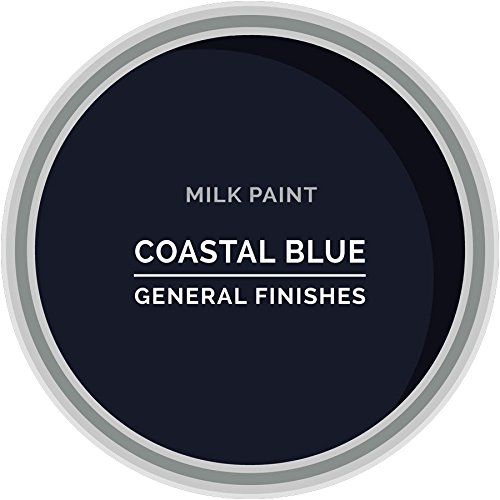 General Finishes Water Based Milk Paint, 1 Gallon, Coastal (Blue Color Finish)