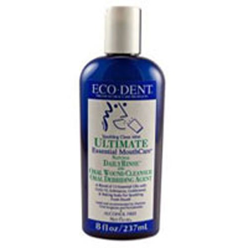 Eco Dent Sparkling Clean Mint Daily Mouth Rinse, 8 Ounce - 6 per ()