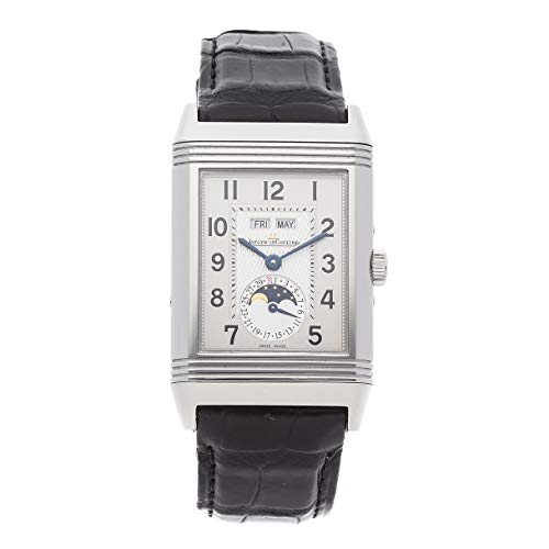 (Jaeger-LeCoultre Reverso Mechanical (Hand-Winding) Silver Dial Mens Watch Q3758420 (Certified Pre-Owned))