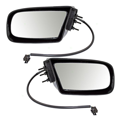 Driver and Passenger Power Side View Mirrors Gloss Replacement for Pontiac Buick 88896759 88895190 AutoAndArt