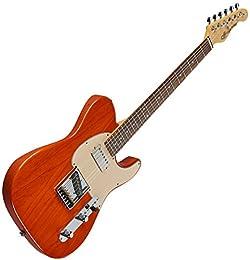 G&L ASAT Classic Bluesboy USA Fullerton Deluxe in Clear Orange Rosewood