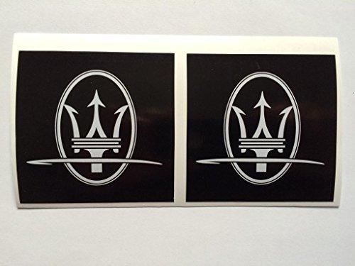 2 Maserati Square Logo Die Cut Decals