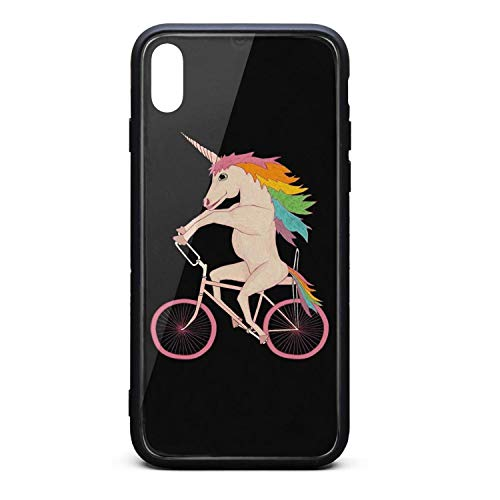Dykes 'n Bikes Rainbow Unicorn Phone Case for iPhone Xs MAX Colorful Anti-Fingerprint/Protection/Anti-Fall/Scratch/Whole Body Protection The Protective Shell of The iPhone Xs MAX Mobile Phone