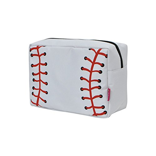 Baseball White Print NGIL Large Cosmetic travel Pouch